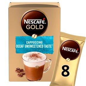 NESCAFÉ GOLD Cappuccino Decaf Unsweetened Taste Coffee, 8 sachets