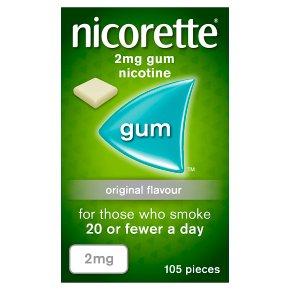 Nicorette original low strength chewing gum, 2mg