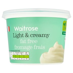 Waitrose fat free French fromage frais