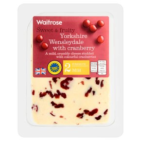 Waitrose Wensleydale with Cranberries Strength 2