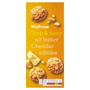 Waitrose cheddar cheese nibbles