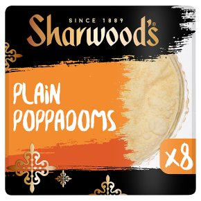 Sharwood's plain poppadoms