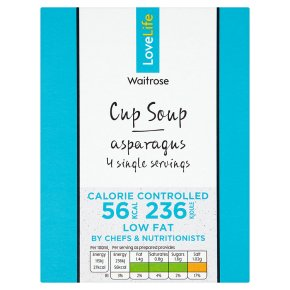 Waitrose LoveLife Calorie Controlled asparagus soup in a cup