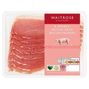 British smoked back bacon, 8 rashers