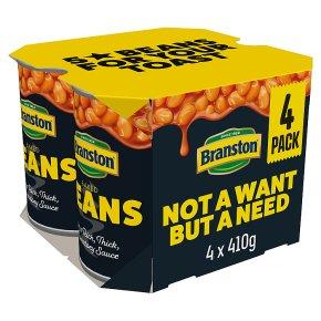 Branston baked beans, 4 pack