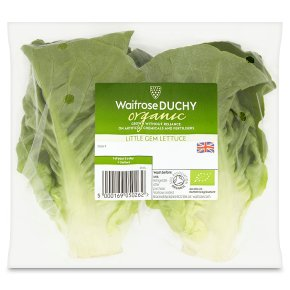 Waitrose Duchy Organic little gem lettuce