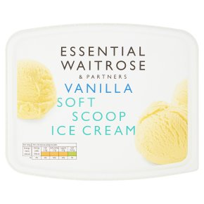 essential Waitrose vanilla soft ice cream
