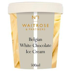 Waitrose 1 Belgian white chocolate ice cream