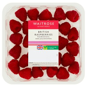 Waitrose sweet and juicy raspberries