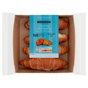 Waitrose LoveLife Calorie Controlled 4 French butter croissants