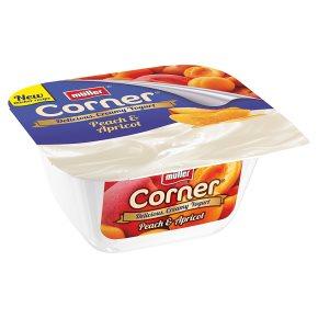 Müller Fruit Corner yogurt with peach & apricot