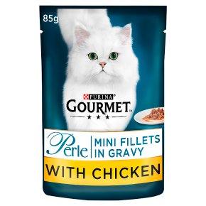 Gourmet Perle Cat Food Mini Fillets Chicken In Gravy