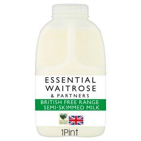 essential Waitrose Semi Skimmed Milk
