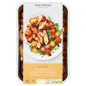 Waitrose Easy To Cook parmesan & tomato deboned chicken