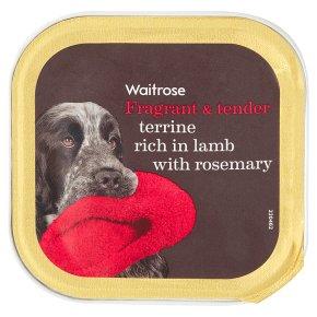 Waitrose lamb terrine with rosemary dog food