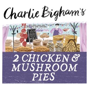 Charlie Bigham's 2 chicken & mushroom pies