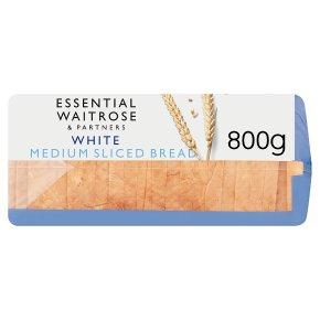 essential Waitrose white medium sliced bread