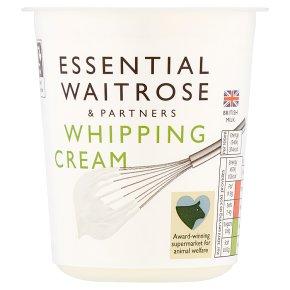 essential Waitrose whipping cream