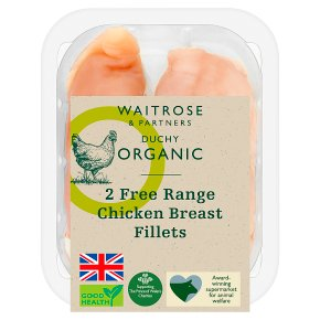 Waitrose Duchy Organic 2 Free Range British chicken breast fillets