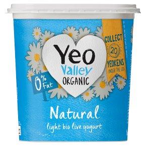 Yeo Valley organic 0% fat natural yogurt