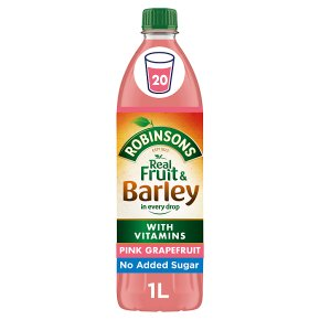 Robinsons fruit & barley pink grapefruit