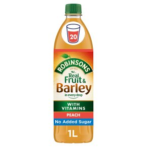 Robinsons fruit & barley peach no added sugar squash