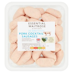 essential Waitrose 30 British pork cocktail sausages