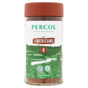 Percol Rainforest Alliance Americano Instant Coffee 100g