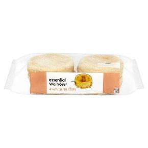 essential Waitrose white muffins