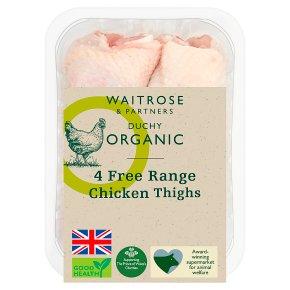 Waitrose Duchy Organic 4 Free Range British chicken thighs