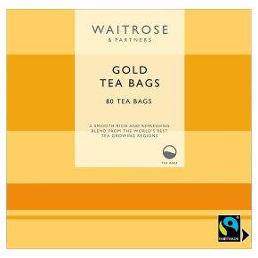 Waitrose Gold Round - 80 bags
