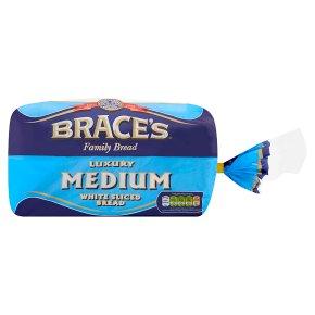 Brace's thick cut white sliced bread