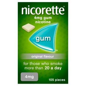 Nicorette fullstrength original chewing gum, 4mg