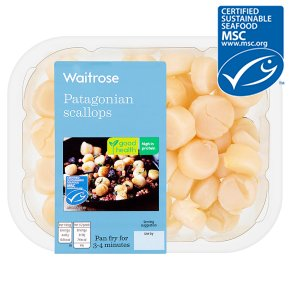 Waitrose MSC raw scallops