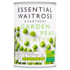 essential Waitrose garden peas in water