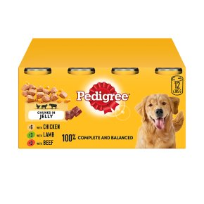 PEDIGREE Dog Tins Mixed Selection in Jelly 12 x 385g