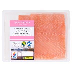 Waitrose 4 boneless Scottish salmon fillets
