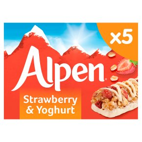 Alpen 5 bars strawberry with yoghurt