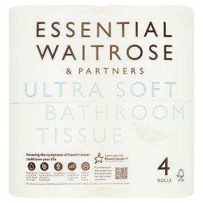 essential Waitrose Pure White Toilet Rolls