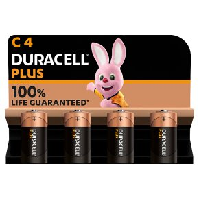 Duracell Plus Power C Batteries Alkaline