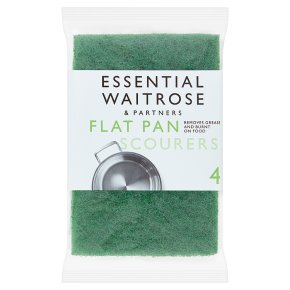 essential Waitrose flat pan scourers