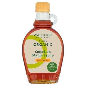Waitrose Duchy Organic Maple Syrup - Medium No. 1