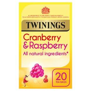 Twinings cranberry & raspberry 20 tea bags