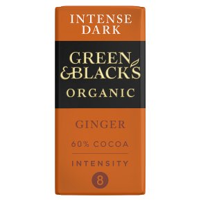 Green & Black's organic ginger dark chocolate bar