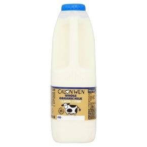 Calon Wen pasteurised organic whole milk pasteurised