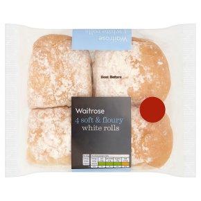 Waitrose white rolls