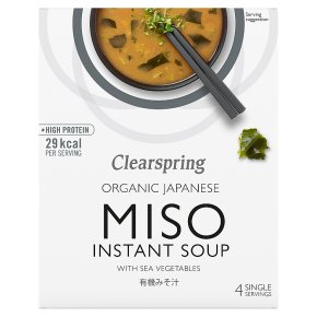 Clearspring organic miso soup with sea vegetables, 4 servings