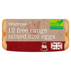 Waitrose British Blacktail medium free range eggs