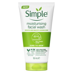 Simple Kind To Skin moisturising facial wash