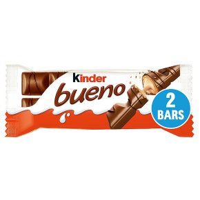 Kinder Bueno milk & hazelnuts twin bars